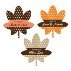 Personalized Fall Leaf Labels