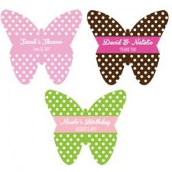 Personalized Butterfly Labels