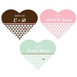 Personalized Heart Shape Labels
